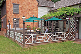 Outdoor patio of the Baladerry Inn, Gettysburg