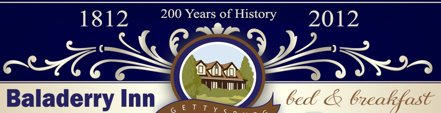 Baladerry Inn Bed & Breakfast - Gettysburg - 1812 - 200 Years of History - 2012