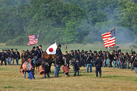 Civil War Battle Reenactment, Gettysburg